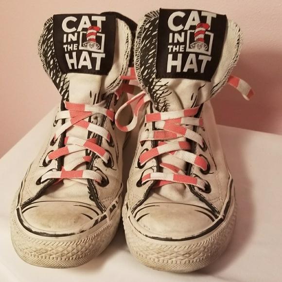aecc41daf3bd Converse Shoes - Converse Cat in the Hat Dr. Seuss hi tops